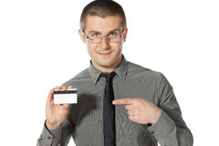 получка кредита карточки внимания к Стоковая Фотография