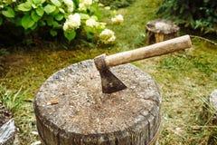 Полу-ржавое оси старое Стоковое Фото