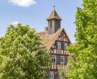 Полу-timbered деталь дома Стоковые Фото