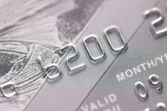 польза всхода макроса кредита карточки предпосылки совершенная Стоковое Фото