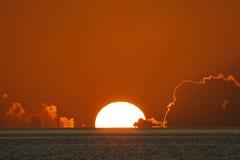 пользует ключом заход солнца стоковое фото
