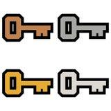 Пользует ключом логотипы простая бронза знаков значков символов, серебр, золото, комплект 2 платины покрашенный иллюстрация штока