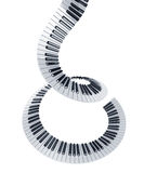 пользует ключом спираль рояля Стоковые Фото