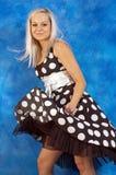 полька девушки платья многоточия Стоковое Фото