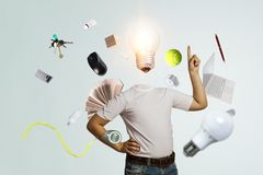 польностью головные идеи Мультимедиа стоковые изображения