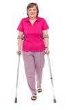 польностью поврежденная женщина старшия портрета длины Стоковое Изображение RF