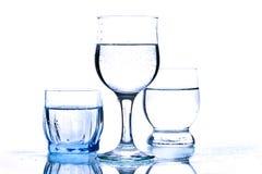 польностью стеклянная вода Стоковое Изображение