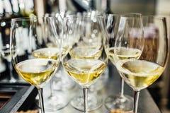 Польностью холодные каннелюры шампанского Стоковое фото RF