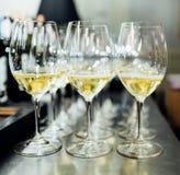 Польностью холодные каннелюры шампанского Стоковая Фотография RF