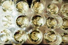 Польностью холодные каннелюры шампанского Стоковое Изображение RF