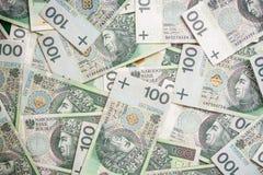 Польская картина банкнот злотого Стоковые Фото