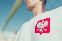 Польская эмблема орла игрока Стоковые Фото