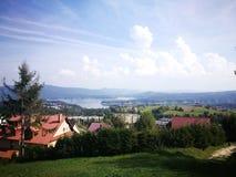 Польские горы Художественный взгляд на цветах стоковое фото