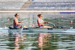 Польские спортсмены на rowing конкуренции чашки мира гребя Стоковые Фото
