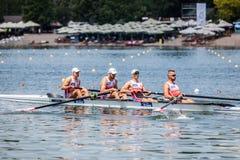 Польские спортсмены на rowing конкуренции чашки мира гребя Стоковое фото RF