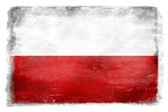 Польский флаг с надписью 8 Стоковые Фото