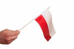 Польский флаг. Стоковое Фото