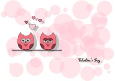 Полюбите день ` s валентинки карточки приглашения, заверните сердце в бумагу отрезка мини, сычей отрезка, любящие сычей, слепимос стоковые фото