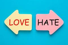 Полюбите против ненависти стоковое изображение rf