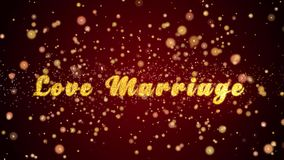 Полюбите частицы текста поздравительной открытки замужества сияющие для торжества, фестиваля видеоматериал