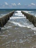 полюсы молы деревянные Стоковое Изображение RF