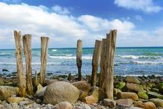 полюсы деревянные Стоковое Изображение