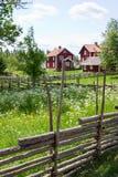 полюс загородки деревянный Стоковое Изображение