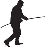 полюс человека Стоковая Фотография RF