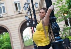 Поляк беременной женщины Стоковое Изображение RF