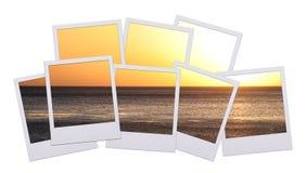 поляроидный заход солнца стоковая фотография