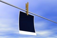 поляроид пустой бумаги Стоковые Изображения RF