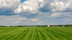Поля фермы, сельский ландшафт Стоковая Фотография RF