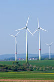 поля 4 windwheels Стоковые Фотографии RF