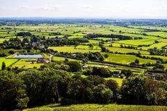Поля Glastonbury стоковая фотография rf