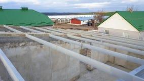 Пол в доме рамки Пригородная конструкция стоковое фото rf