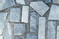 Пол или поверхность вымощенные с мраморными слябами прямоугольной формы Стоковые Изображения