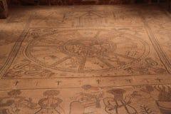 Пол мозаики альфы Beit стоковое изображение rf