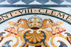 Пол мозаики базилики St Giovanni в Риме sy стоковое фото rf