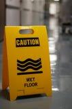 пол предосторежения влажный Стоковая Фотография RF