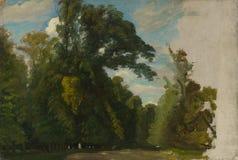 Пол Huet - деревья в парке на Свят-облаке стоковое фото rf