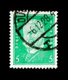 Пол von Гинденбург 1847-1934, президенты serie Германии, около 1928 Стоковое Изображение
