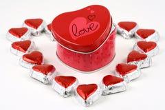 помадка влюбленности коробки Стоковая Фотография