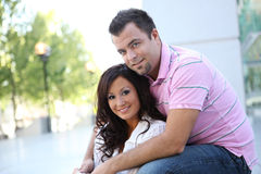 помадка влюбленности пар счастливая Стоковая Фотография