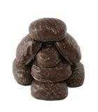 помадка изолированная шоколадом Стоковые Изображения