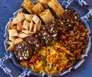 Помадка и закуски veg Holi стоковое фото