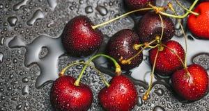 помадка красного цвета вишен Стоковое Фото