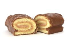 помадка крена шоколада Стоковое Изображение