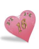 помадка пинка сердца 16 графиков Стоковые Фотографии RF