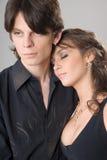 помадка портрета влюбленности пар Стоковые Фотографии RF