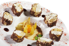 помадка суш крена шоколада Стоковая Фотография RF
